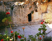Holyland Prints - Garden Tomb Print by Munir Alawi