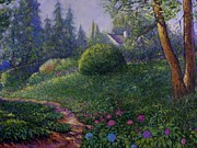 Charles Bridge Paintings - Garden Trail by Charles Munn