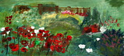 River View Paintings - Garden View by Julie Lueders