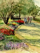 Landscaping Paintings - Garden Walk by Marilyn Smith