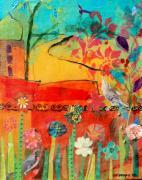 Garden Walls Print by Suzanne Kfoury