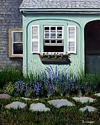 Paul Walsh Metal Prints - Garden Window Metal Print by Paul Walsh