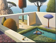 Evgeni Gordiets - Garden with Red Cypress