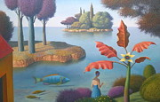 Evgeni Gordiets - Garden with Yellow Flower