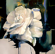 Intense Paintings - Gardenia by Lin Petershagen