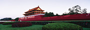 City Garden Prints - Gardens at Entrance to the Forbidden City Print by Jeremy Woodhouse