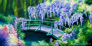Abstract Realism Painting Prints - Gardens of Givernia II Print by James Christopher Hill