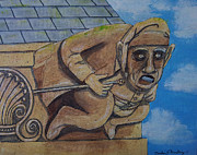 Gargoyle Paintings - Gargoyle by Gordon Wendling