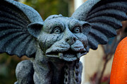 Haunted House Photo Posters - Gargoyle Poster by LeeAnn McLaneGoetz McLaneGoetzStudioLLCcom