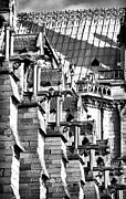 French Gothic Architecture Posters - Gargoyle Watching Poster by John Rizzuto