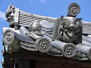 Gargoyles Of Horyu-ji Temple - Nara Japan Print by Daniel Hagerman
