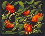 Fish Reliefs - Garibaldi by Karin Griffiths