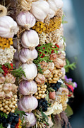 Healthy Eating Metal Prints - Garlic On Ecological Market Metal Print by Maciej Frolow