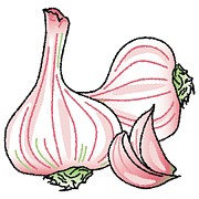 Garlic Digital Art - Garlic by Wolfgang Herzig