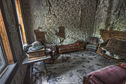 Chaise Photo Prints - Garnet Ghost Town Hotel Parlor - Montana Print by Daniel Hagerman