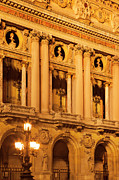 Night Lamp Framed Prints - Garnier Opera House Framed Print by Brian Jannsen