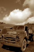 Old Trucks Photo Metal Prints - Garrods Old Truck 2 Metal Print by Kathy Yates