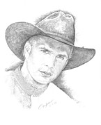 Nashville Drawings Framed Prints - Garth Brooks Framed Print by Jan Andrews