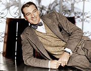 1930s Fashion Photo Prints - Gary Cooper, Ca. 1933 Print by Everett