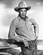 Western Shirt Framed Prints - Gary Cooper, Ca. 1947 Framed Print by Everett