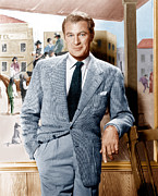 Gray Jacket Prints - Gary Cooper, Ca. Late 1940s Print by Everett
