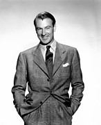 Colbw Metal Prints - Gary Cooper Metal Print by Everett