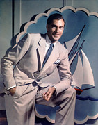 Pocket Square Prints - Gary Cooper, Late 1930s - Early 1940s Print by Everett
