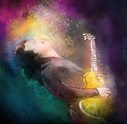 Music Mixed Media - Gary Moore 01 by Miki De Goodaboom