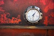 Old Objects Photos - Gas Gauge by John Short