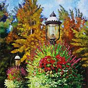 Lamps Paintings - Gas Light Square by John Lautermilch