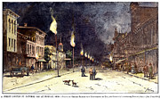 Gaslight Framed Prints - Gas Lights, 1885 Framed Print by Granger