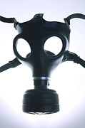Biochemical Framed Prints - Gas Mask Framed Print by Cristina Pedrazzini