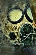 Scared Framed Prints - Gas Mask Framed Print by Jill Battaglia