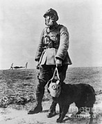 Dog Walking Photo Prints - Gas Masks In Wwi 1914-18 Print by Library of Congress