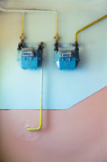Distribution Prints - Gas meters Print by Gabriela Insuratelu