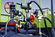 Pumping Station Prints - Gas Pipe Booster Station Print by Ria Novosti