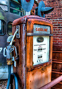Junk Photos - Gas Pump by Fred LeBlanc