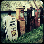 Old - Gas Pumps by Joel Witmeyer