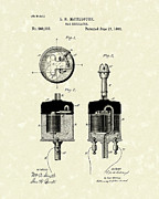 Control Drawings Posters - Gas Regulator 1882 Patent Art Poster by Prior Art Design