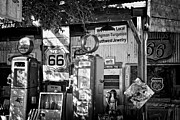 Hackberry General Store Posters - Gas station on Route 66 Poster by Hideaki Sakurai