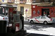 Engracia Posters - Gas station Rapsol on Santa Engracia street - Madrid Poster by Thomas Bussmann