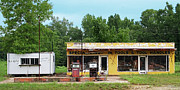 Hardware Shop Prints - Gas Station Tool Shop and Hot Coffee Print by Grant Groberg