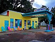 Fairhope Prints - Gas Station with Style Print by Michael Thomas