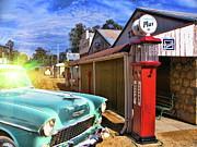 Gasoline Photos - Gas Stop by Douglas Barnard