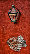 Gaslight Framed Prints - Gaslight on a Red Wall Framed Print by Bill Cannon