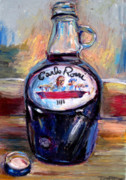 Red Wine Pastels - Gasoline Wine by Thomas Daseler