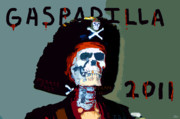 Buccaneer Posters - GASPARILLA 2011 Work Number Two Poster by David Lee Thompson
