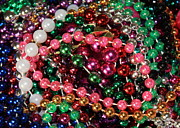 Colorful Beads Posters - Gasparilla Beads 2 Poster by Carol Groenen