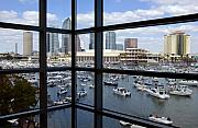 City Buildings Framed Prints - Gasparilla Invasion Framed Print by David Lee Thompson