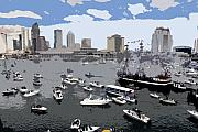 Gasparilla Prints - Gasparilla invasion work number 3 Print by David Lee Thompson